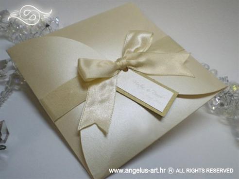 primjer gotove krem pozivnice za vjencanje
