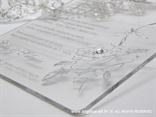 prozirna plexy pozivnica sa srebrnim tiskom