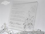 prozirna pozivnica za vjenčanje sa srebrnim tiskom i cirkonom