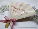 Menu jeleovnik za svadbenu svečanost - Candy Stripes Lepeza