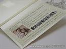 putovnica pozivnica s krem mašnom i fotografijom