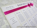 Raspored sjedenja za svadbenu svečanost - Pink Beauty