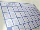 Raspored sjedenja za svadbenu svečanost - Blue Line