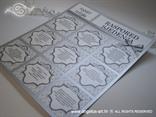 raspored stolova za vjenčanje srebrni s mašnom