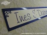 registarska tablica za vjencanje s imenom