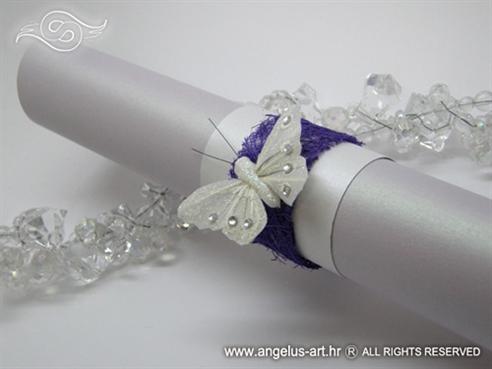 rolana pozivnica za vjenčanje ljubičasta s leptirom