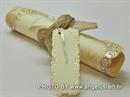 Pozivnica za vjenčanje History Stari rolani svitak 1