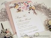 Pozivnica za vjenčanje - Romantic Rose Line