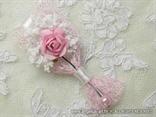 roza kitica za rever za gospodu na vjencanju s ruzom
