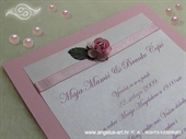 Invitation for baptism - Pink Rose Fairy Tale