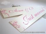 roze tablice za vjencanje s imenima