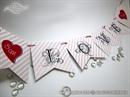 "Photo booth rekviziti - Pink ""Love"" Banner"