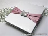 Knjiga za prstenje Broš ružičasti leptir