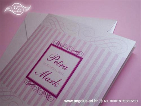 ružičasta prugasta pozivnica