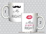 Šalica Mr. & Mrs. Right