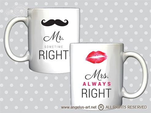 Šalica Mr. & Mrs.Right