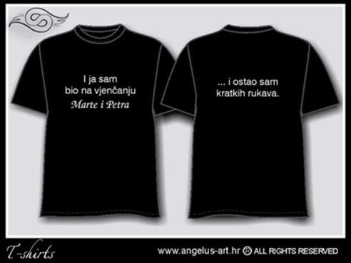 šaljiva crna majica s natpisom za vjenčanje