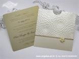 šampanj pozivnica za vjenčanje s kartonom staro zlato