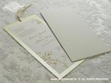 šampanj pozivnica za vjenčanje sa zlatnom trakicom na izvlačenje