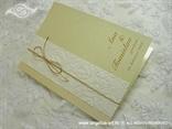 šampanj zahvalnica za vjenčanje sa zlatnom mašnicom i 3D uzorkom