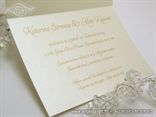 šampanj zlatna pozivnica za vjenčanje s tiskom