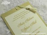 šampanj zlatna pozivnica za vjenčanje sa zlatnim tekstom