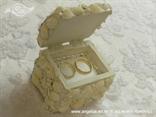 škrinjica za vjenčano prstenje sa školjkama i bijelim perlicama