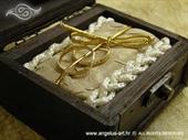 Jastučić za prstenje Škrinjica Gold