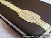 Knjiga gostiju za vjenčanje Smeđe zlatna knjiga