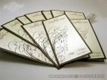 smeđa menu karta za vjenčanje