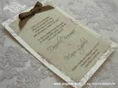 Pozivnica za vjenčanje Brown Blossom