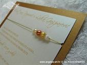 Pozivnica za vjenčanje Bronze Pearl Fairy Tale