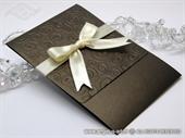 Pozivnica za vjenčanje Brown Classic