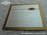 smeđe brončana pozivnica za vjenčanje