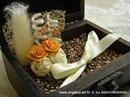 Jastučić za prstenje Škrinjica smeđe narančasta