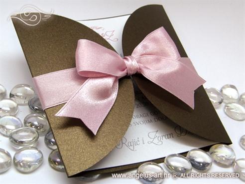 smedje roza pozivnica za vjencanje