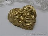 srce magnet u zlatnoj boji konfet za vjenčanje