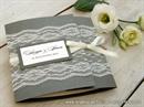 Pozivnica za vjenčanje-Dark Silver Lace Classic