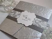 Pozivnica za vjenčanje Silver Exclusive Classic