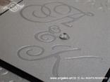 srebrna ekskluzivna pozivnica za vjenčanje s cirkonom i 3D tiskom