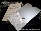 Pozivnica za vjenčanje Charm White & Silver
