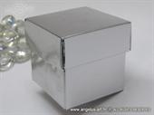 Silver kutijica za konfete sa poklopcem