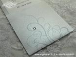 srebrna moderna pozivnica za vjenčanje