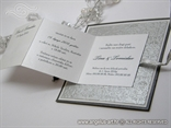 srebrna pozivnica na rasklapanje prikaz teksta