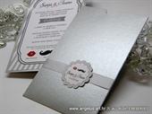 Pozivnica za vjenčanje - Silver Mustache Charm