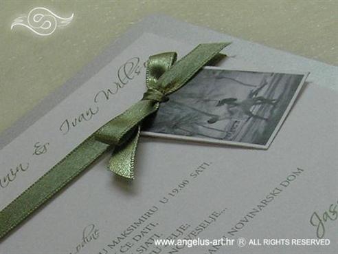 srebrna pozivnica s fotografijom