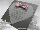 Pozivnica za vjenčanje - Pink Shine Heart