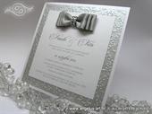 Pozivnica za vjenčanje - Silver Shine Line