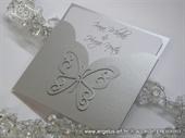 Pozivnica za vjenčanje - Silver Butterfy Charm