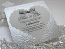 Pozivnica za vjenčanje - Ornamented Silver Heart